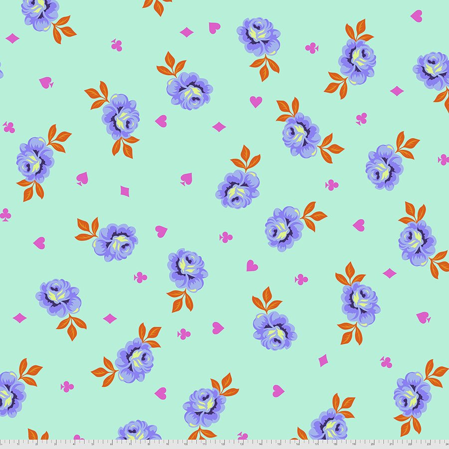 Tula Pink - Curiouser & Curiouser - Backing Fabric - Big Buds (Daydream)