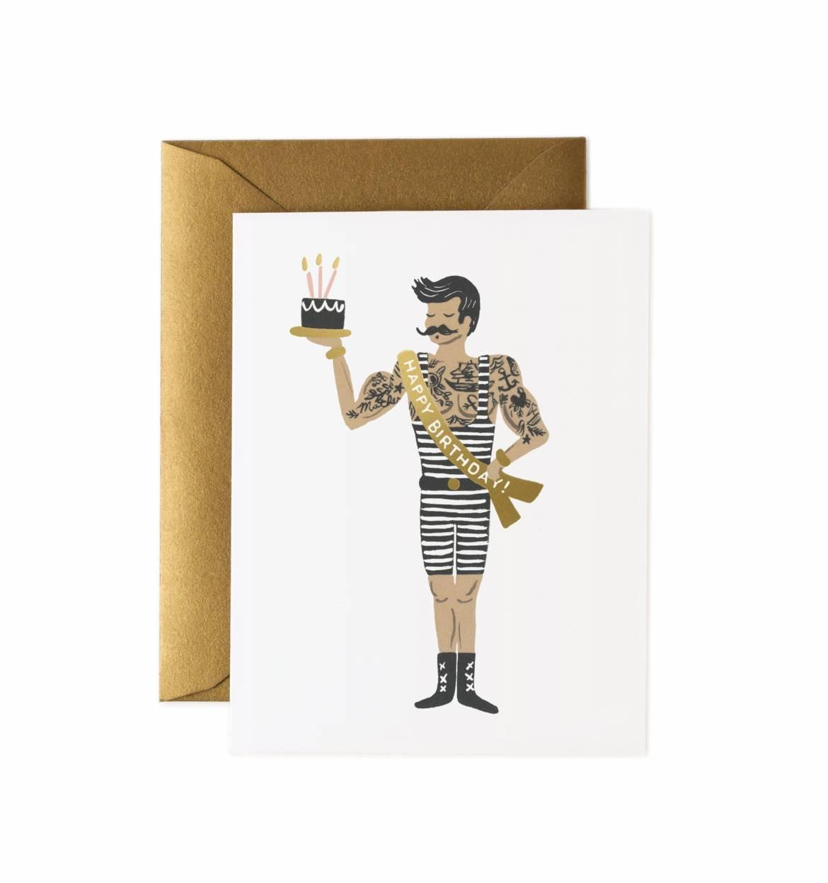Rifle Paper Co. - Strongman Birthday Card