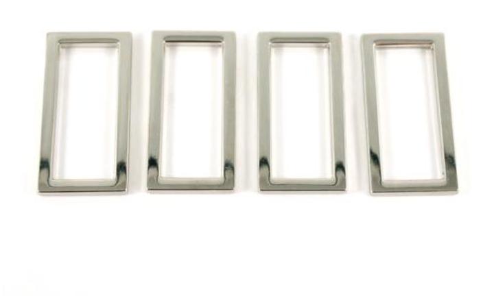 Flat Rectangular Rings 1.5 - Nickel - Emmaline Bags
