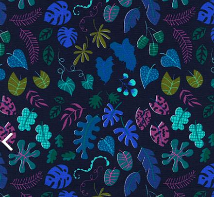 Rashida Coleman-Hale Lagoon - Leafy Wonder (Navy)