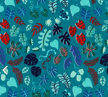 Rashida Coleman-Hale Lagoon - Leafy Wonder (Teal)