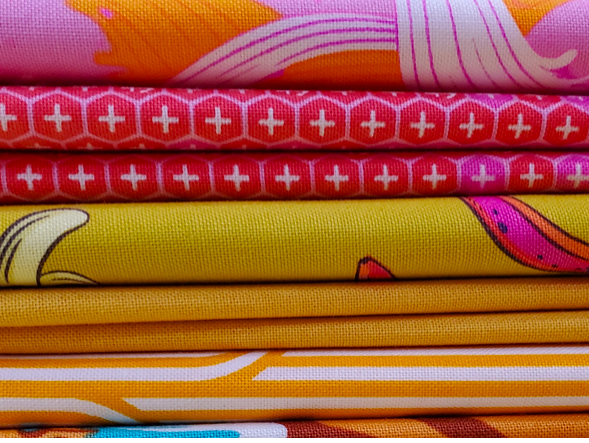 Fat Quarter Bundle Tula Pink -Curated in Yellows (6 FQ)