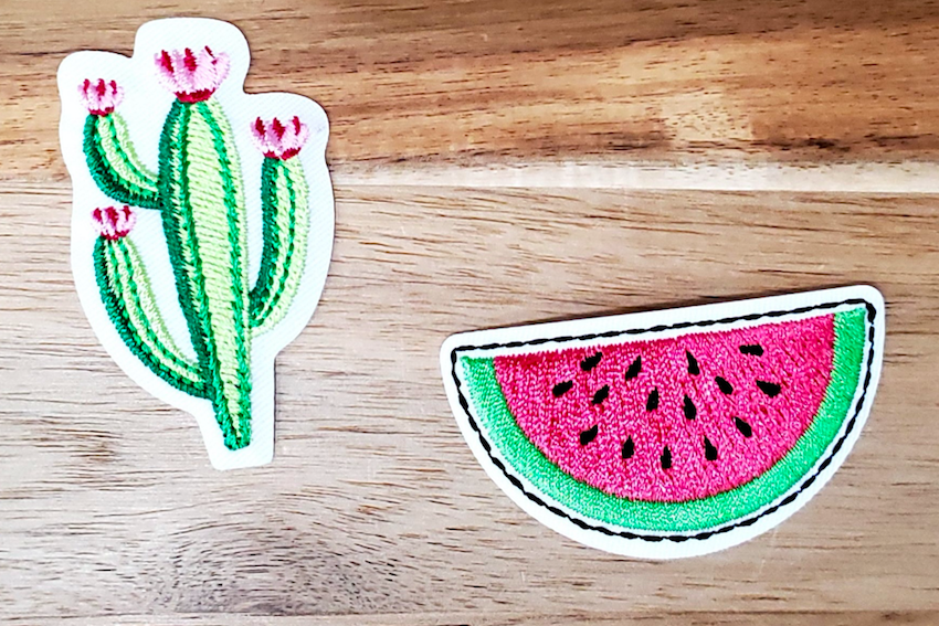Badge Patch - Flowering Cactus and Watermelon 2 pack