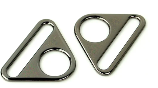 Gunmental 1 Triangle Rings (two sets)