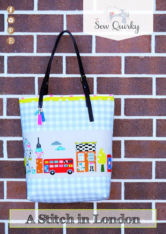 Sew Quirky - A Stitch in London Tote Bag