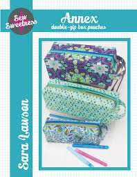 Sew Sweetness - Annex Double Zip Box Pouches Pattern