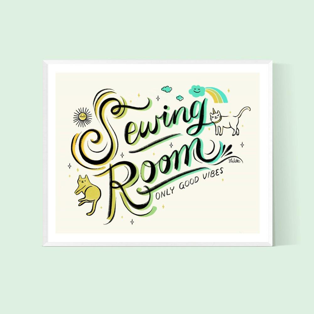 Sewing Room Art Print by Sarah Watts