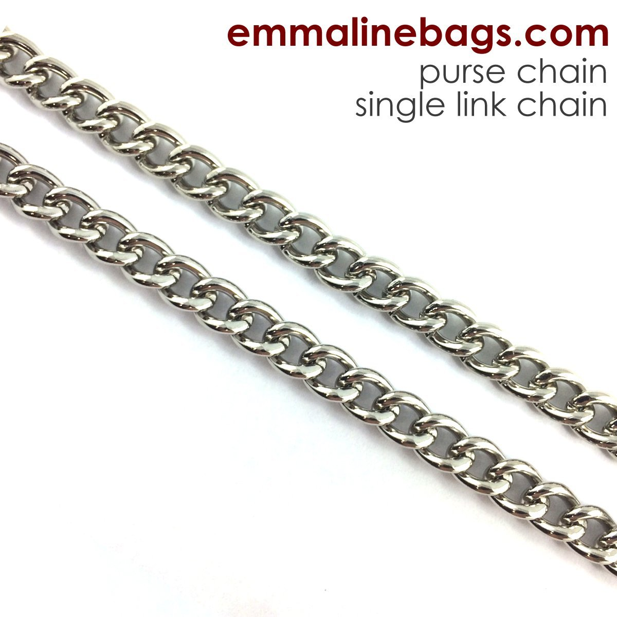 Emmaline Bags - 1 Double Link Chain Strap - 26long Nickel