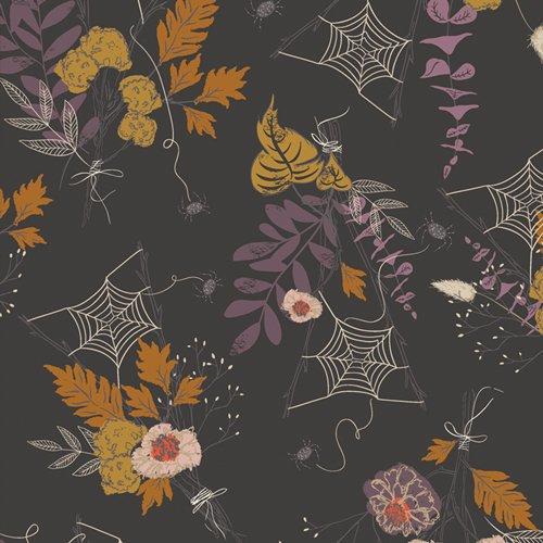Art Gallery Fabrics - Spooky 'n Sweeter  - Cast a Spell (Gray)