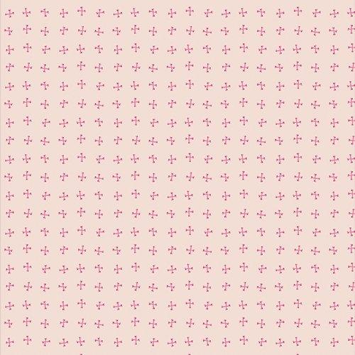 Art Gallery Fabrics - Spooky 'n Sweeter  - Crossed Bones Day (Pink)