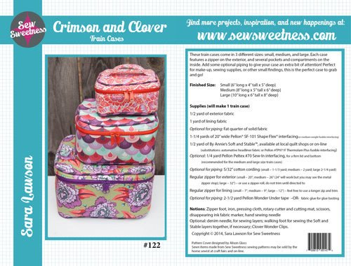 Sew Sweetness - Crimson and Clover Train Cases