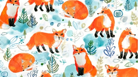 August Wren - Best in Snow  - Foxes (White)