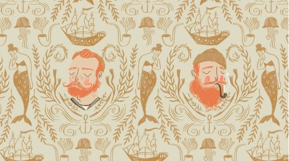 Rae Ritchie Aweigh North - Sailor Toile (Sand)