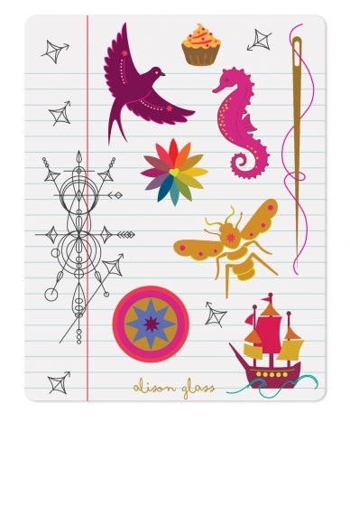 Alison Glass Notebook Sticker Set