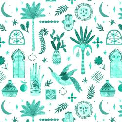 Marbella - Moroccan Nights - Alboran Sea Fabric