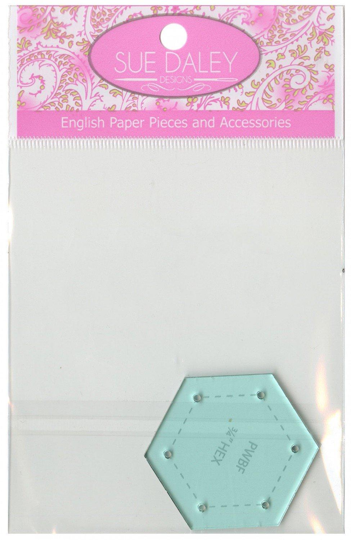 Paper Piece Hexagon 3/4 inch Template