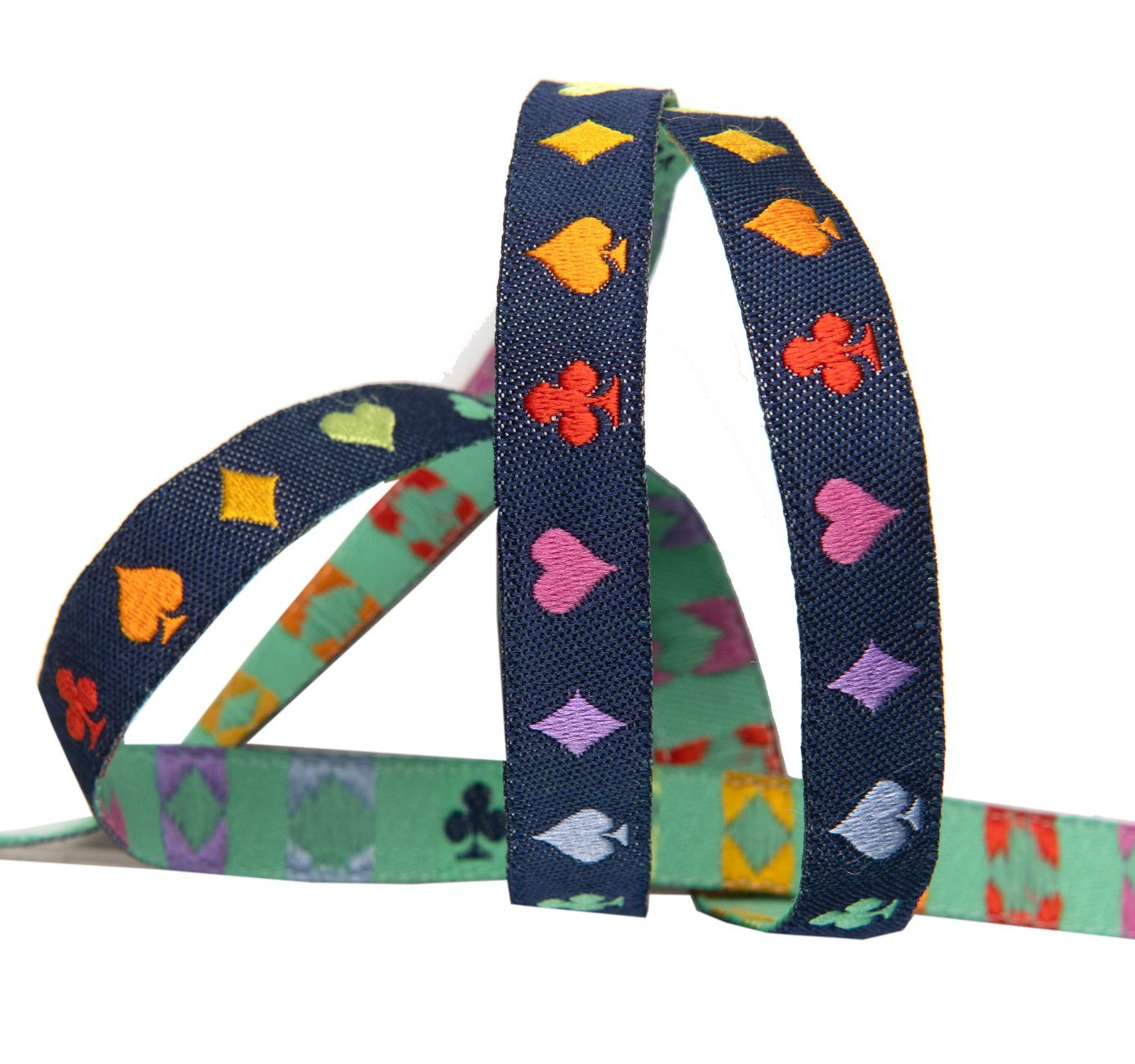 Renaissance Ribbons -Tula Pink Curiouser - Suited and Booted Navy-3/8