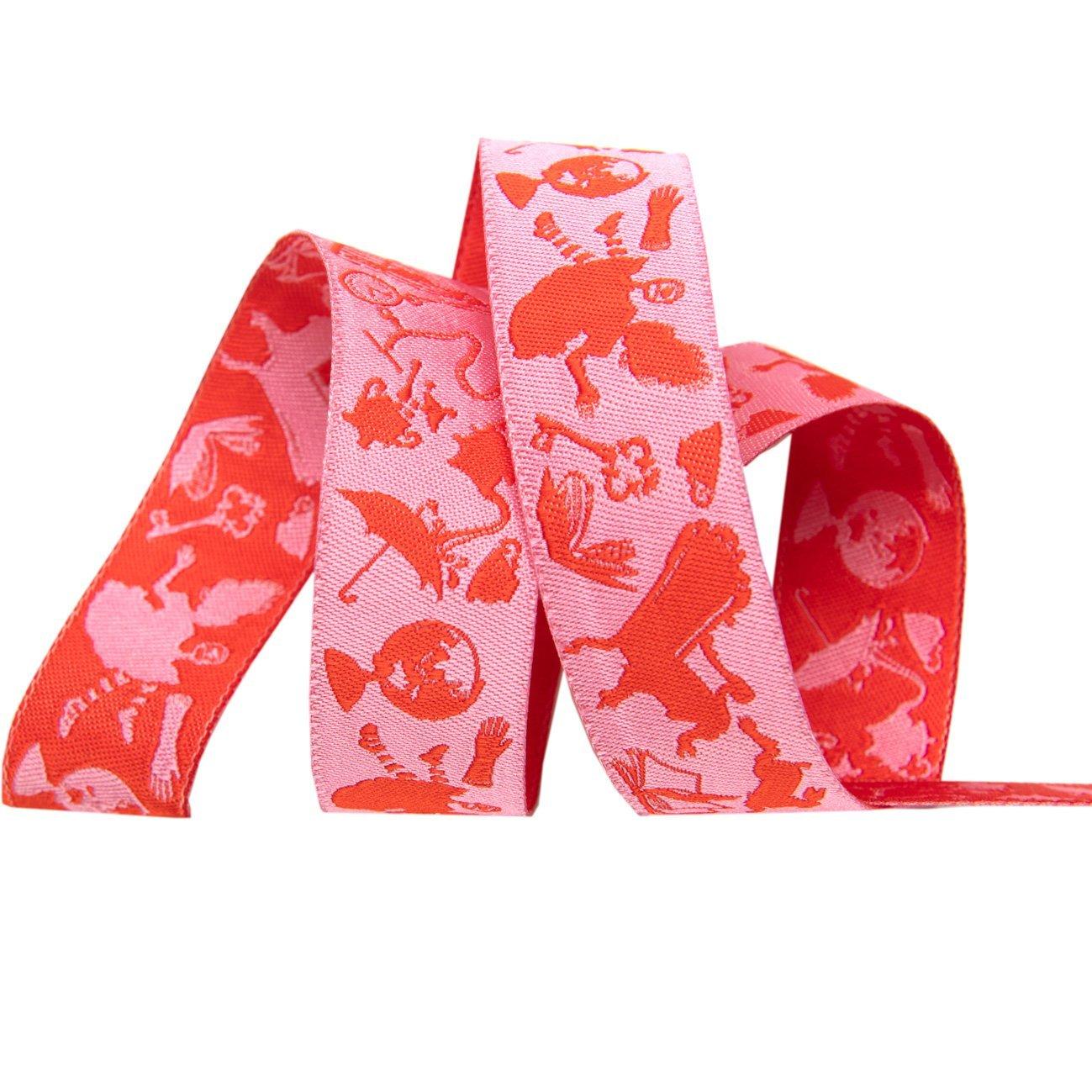 Renaissance Ribbons -Tula Pink Curiouser - Down the Rabbit Hole Pink-7/8