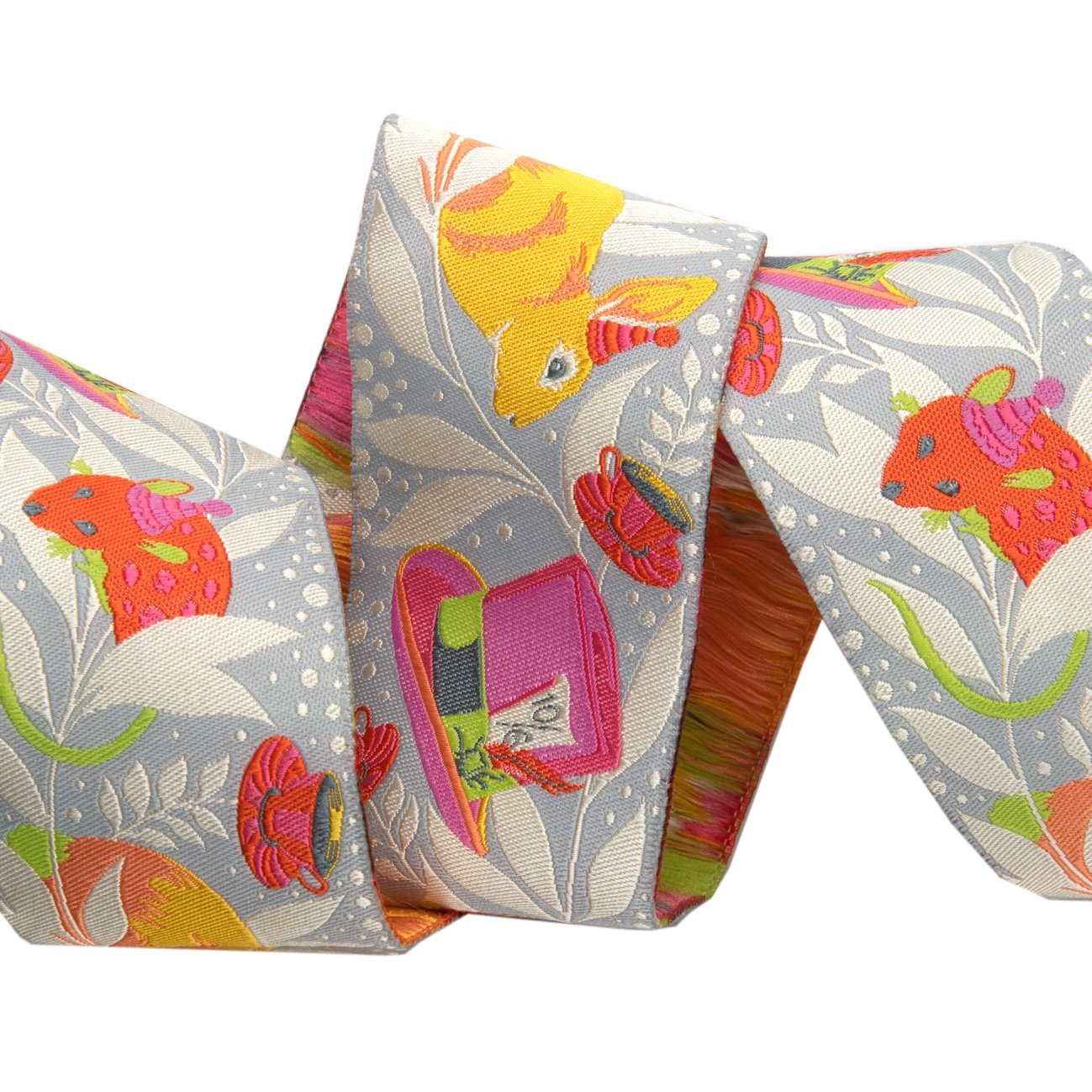 Renaissance Ribbons -Tula Pink Curiouser - Madhatter Pink-2