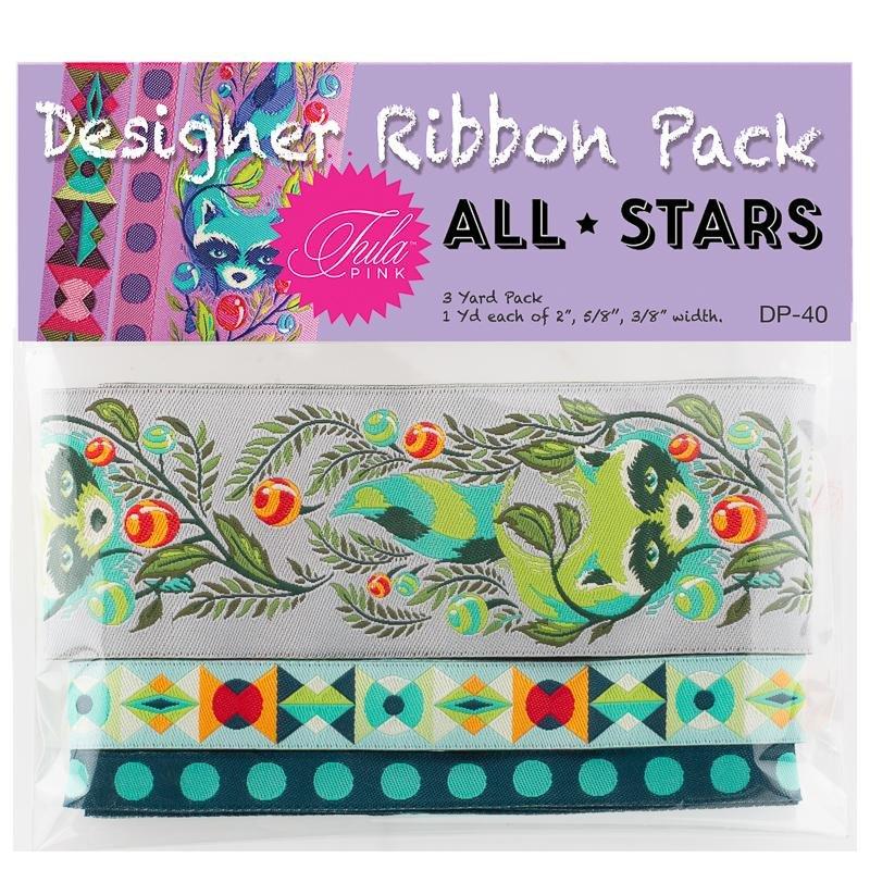 Tula Pink Designer Pack - All Stars Raccoons (Grey)