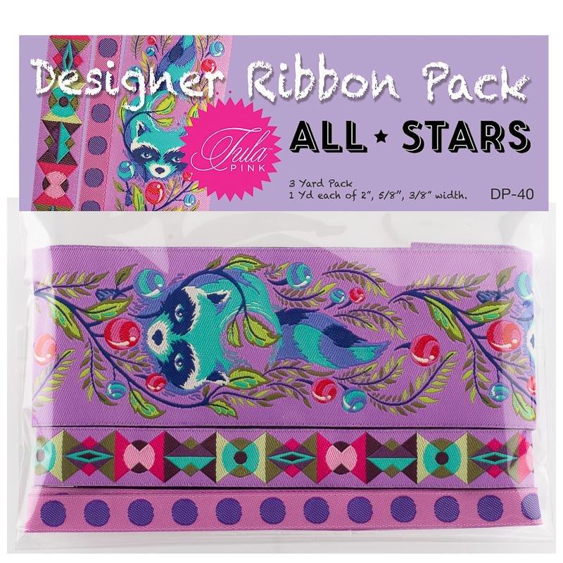 Tula Pink Designer Pack - All Stars Raccoons (Purple)