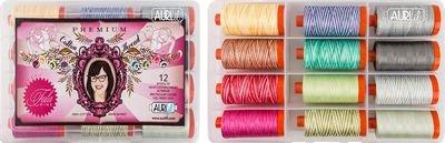 Tula PinkPremium Collection- 50 wt. 12 spools Aurifil Threads