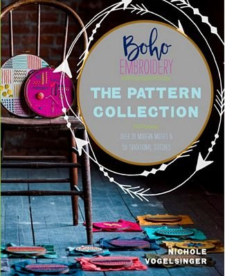 Boho Embroidery Pattern Collection by Nichole Vogelsinger