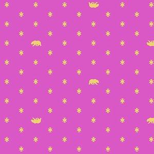 Tula Pink Spirit Animal Collection - Bear Hug (Starlight)
