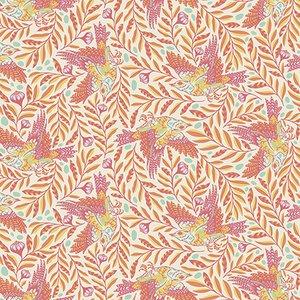 Tula Pink Spirit Animal Collection - Re-Tweet (Sunkissed)