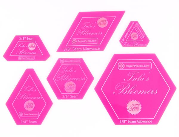 Tula's Bloomers- Acrylic Fabric Cutting Templates (6 piece set)