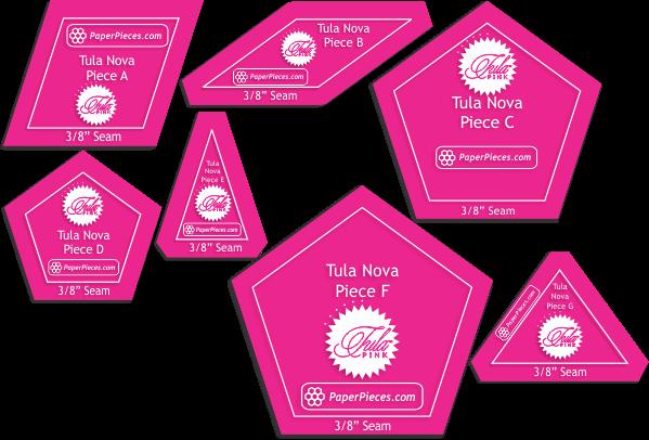 Tula Nova - Acrylic Fabric Cutting Templates (7 piece)