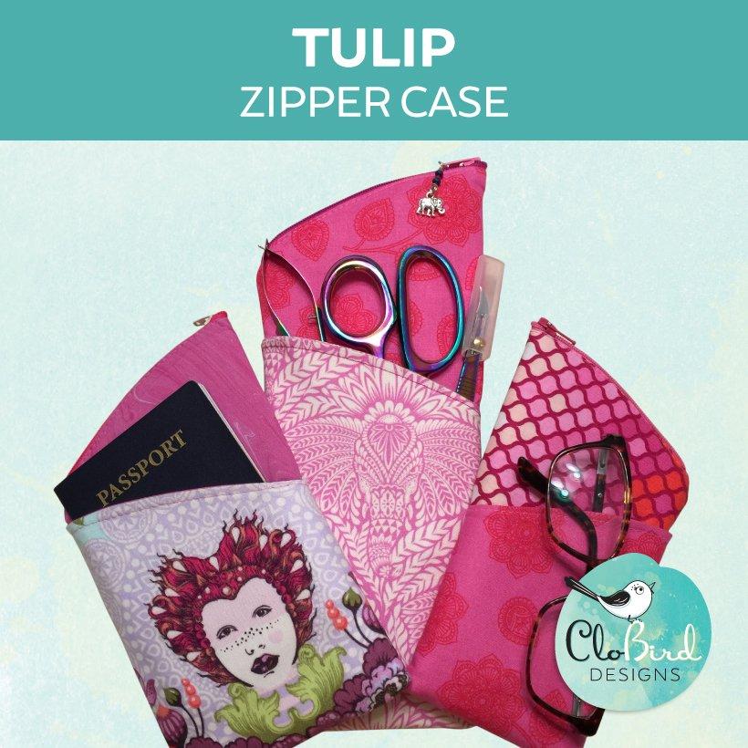 CloBird Designs - Tulip Zipper Case - PDF Pattern