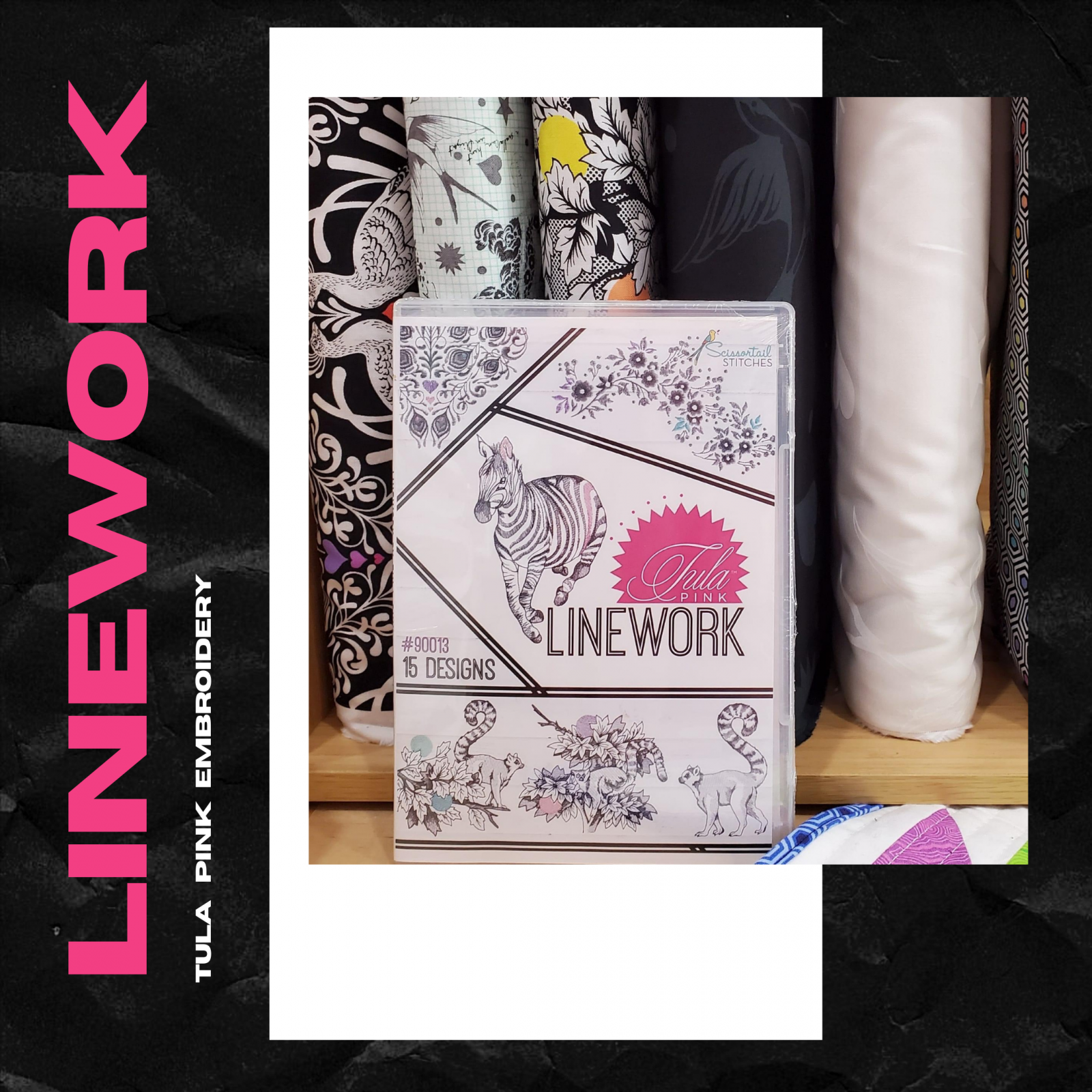 Linework Embroidery USB by Tula Pink