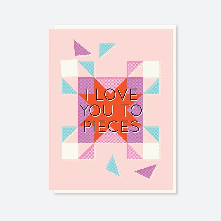 Crafted Moon -  Love You To Pieces Card