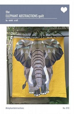 The Elephant Abstractions pattern by Violet Craft