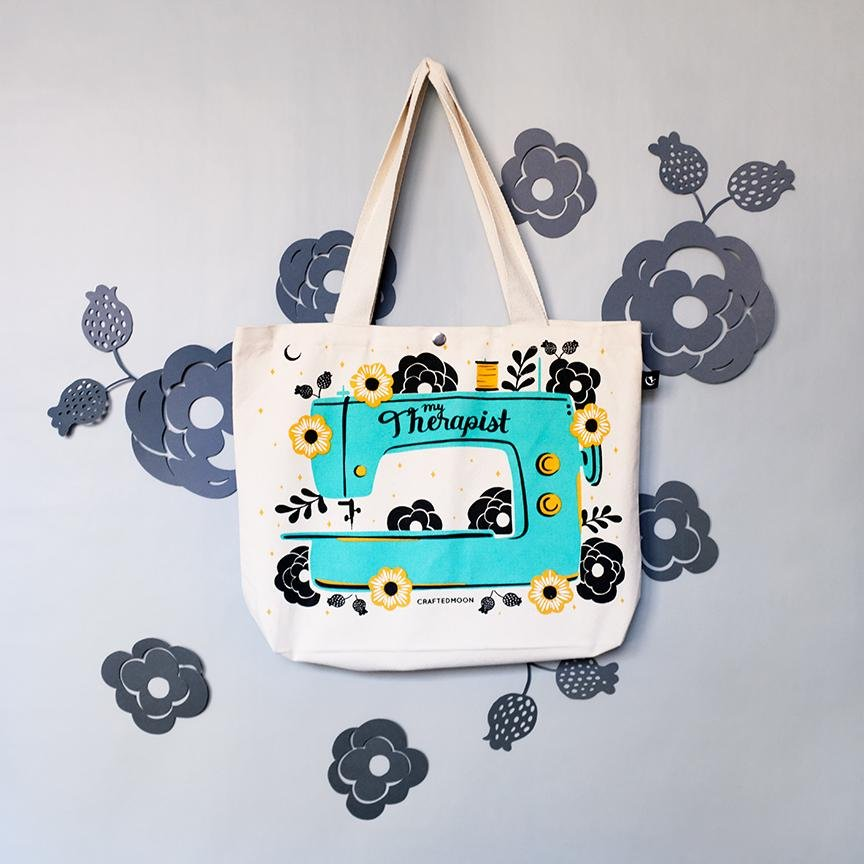 Crafted Moon - My Therapist Tote Bag