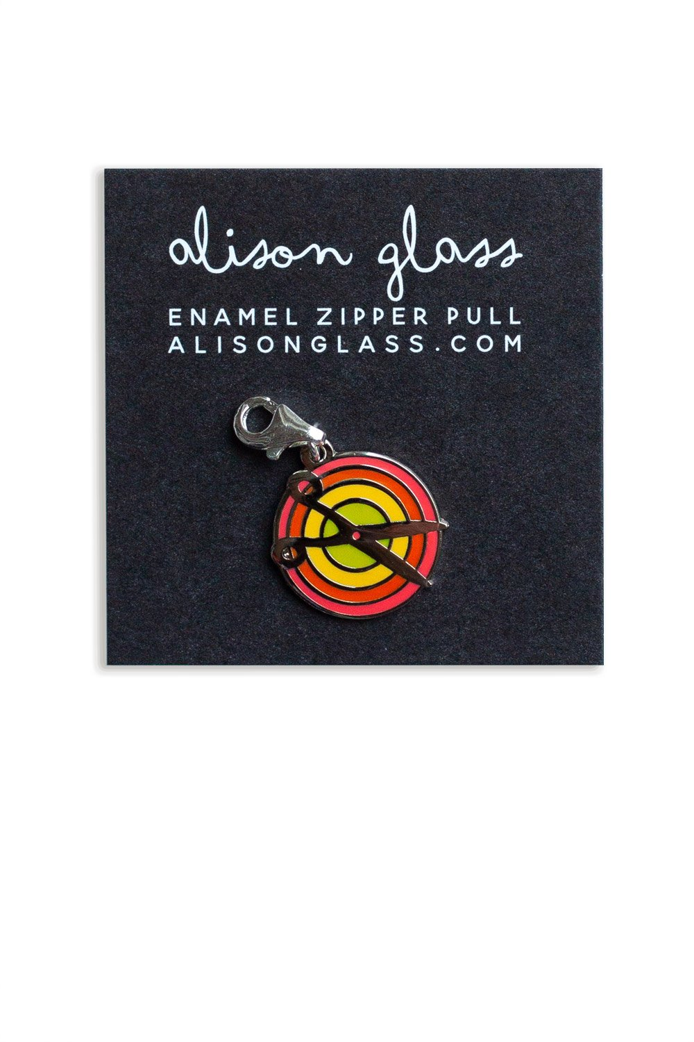 Alison Glass  - Scissors Bag Pull (Yellow + Pink)