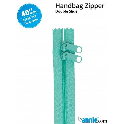 By Annie - Zippers - 40 inch Double Slide- Turquoise
