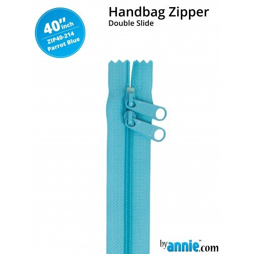 By Annie - Zippers - 40 inch Double Slide- Parrot Blue