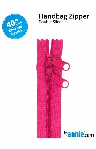 By Annie - Zippers - 40 inch Double Slide - Lipstick