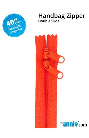 By Annie - Zippers - 40 inch Double Slide - Tangerine