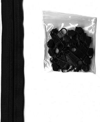 Zippers by the Yard 16mm 4yd (Black)