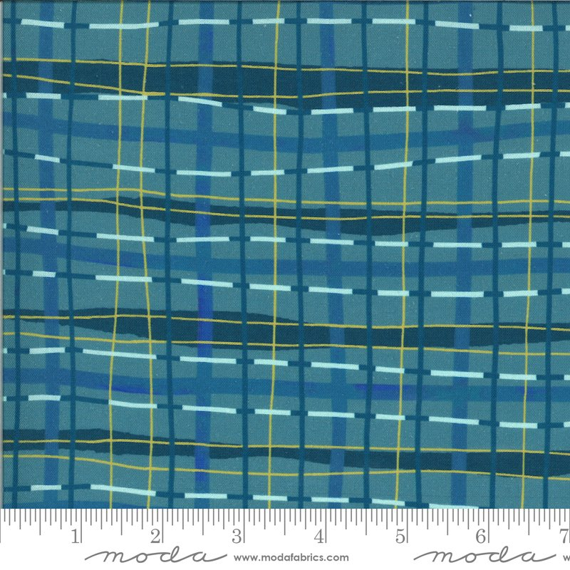 Lakeside Story | Plaid Blanket in Sailcloth