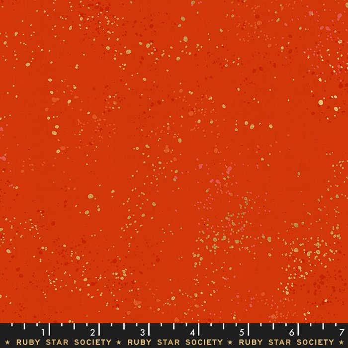 RSS   Speckled in Metallic in Warm Red - FQ