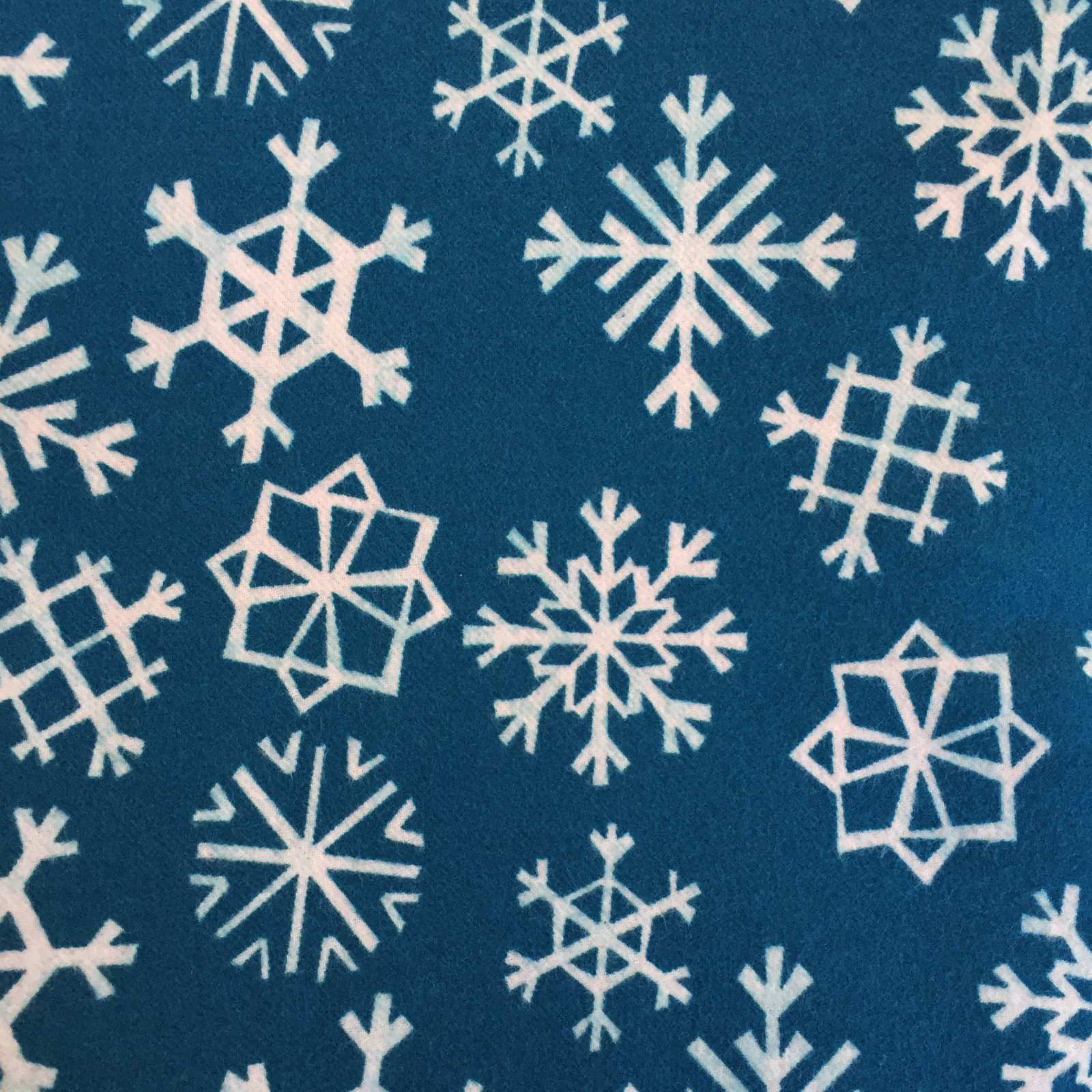 Garland Brushed Twill Snowflakes in Blue