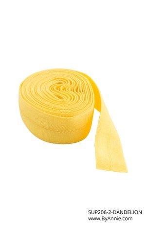 5/8 Fold Over Elastic - Dandelion