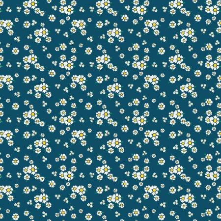 Happiness Floral in Navy