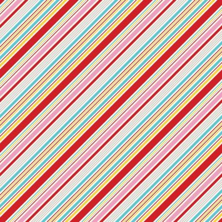 Happiness Stripe in Red