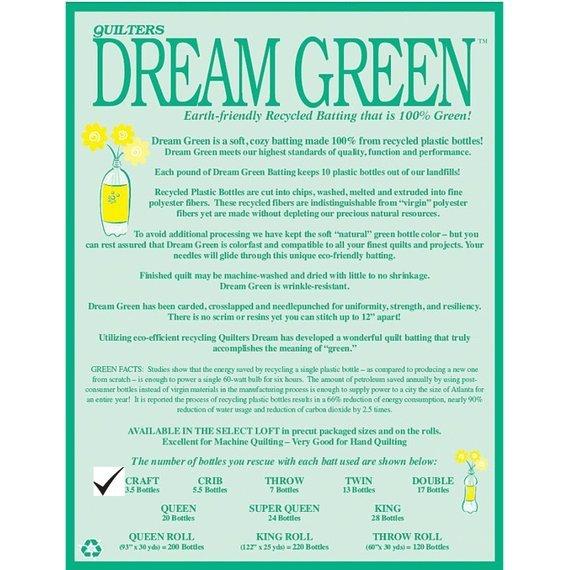 46 x  36 Craft Batting - Green