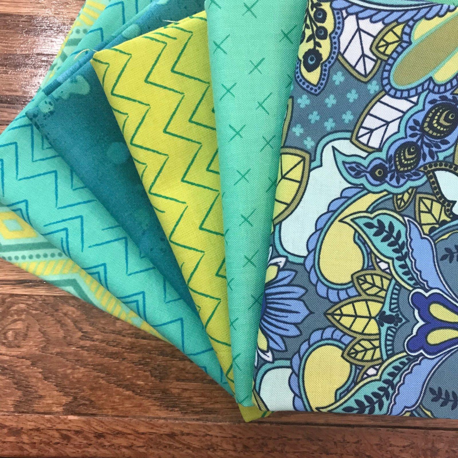 Tidal Wave Turquoise FQ Bundle - 6 Pieces